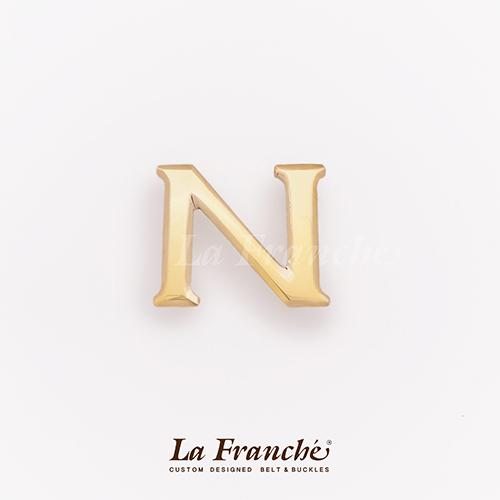 หัวเข็มขัดทองเหลือง อักษร N  (เฉพาะหัว)