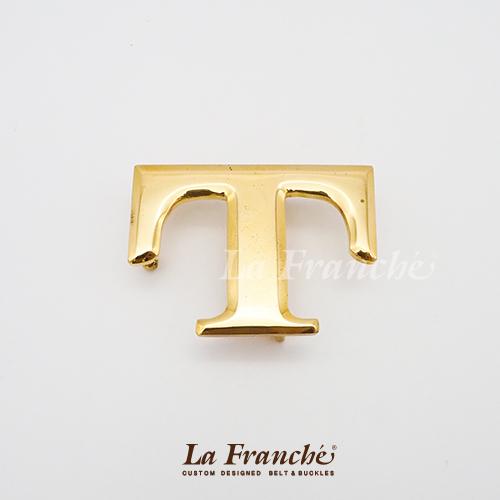 หัวเข็มขัดทองเหลือง อักษร  T  (เฉพาะหัว)