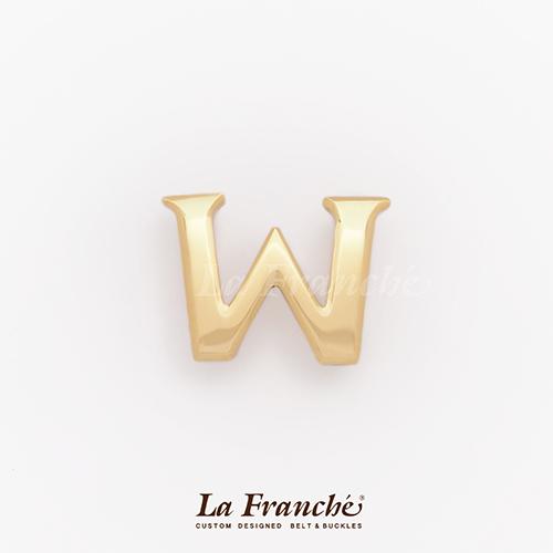 หัวเข็มขัดทองเหลือง อักษร  W  (เฉพาะหัว)