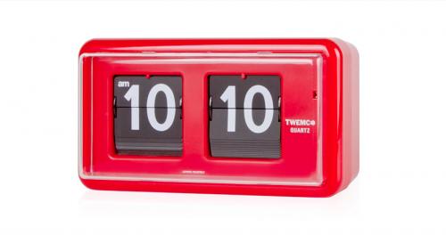 นาฬิกาตั้งโต๊ะ ระบบแผ่นพับตัวเลข TWEMCO QT-30