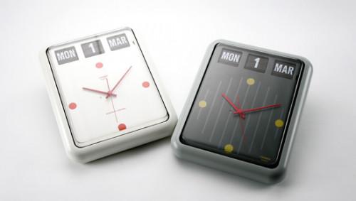 นาฬิกาแขวนผนังหรือตั้งโต๊ะ พร้อมปฏิทินแบบแผ่นพับ TWEMCO BQ-12