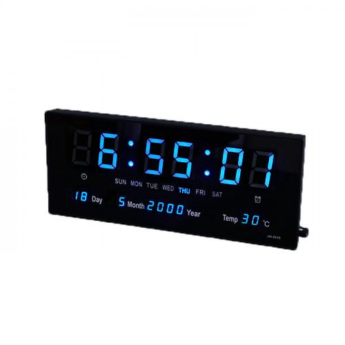 นาฬิกาแขวนผนังระบบ Blue LED Calendar Wall Clock JH3615B