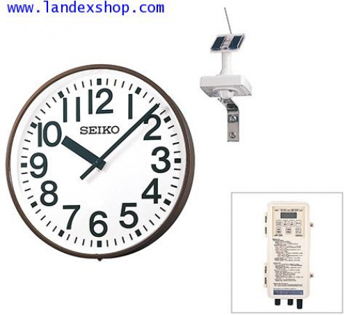 GNSS SYNCHRONIZATION SOLAR-POWERED OUTDOOR CLOCK, Wall type QFC-703GNS