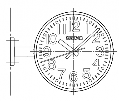 NTP Secondary Clock (Analogue Outdoor) Double-faced / Suspended type & wall bracket type & Pole  SCN