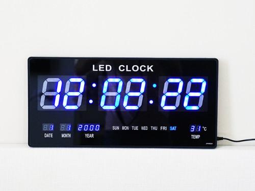 นาฬิกาแขวนผนังระบบ LED (Red LED Calendar Wall Clock JH4622-4)