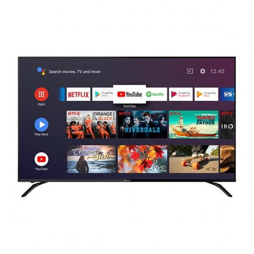 SHARP 60 นิ้ว รุ่น 4T-C60BK1X ANDROID 9.0 4K SMART TV NETFLIX GOOLE PLAY Sportify