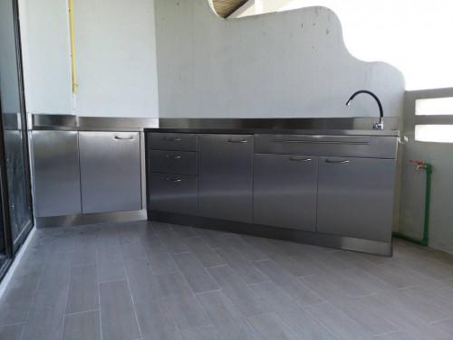 ชุดครัวบ้านงานสแตนเลส (ครัวคอนโด) แบบที่ 26