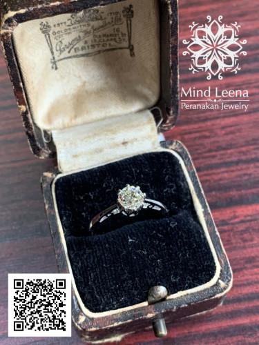 แหวนเพชรก้นตัด ยุควิคตอเรีย อายุ 120-180 ปี
