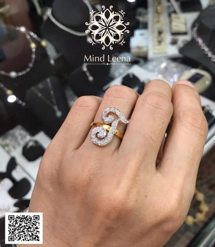 งานลูกค้าสั่งทำกับทางร้าน แหวนตัวอักษร เพชรแท้เบลเยี่ยม
