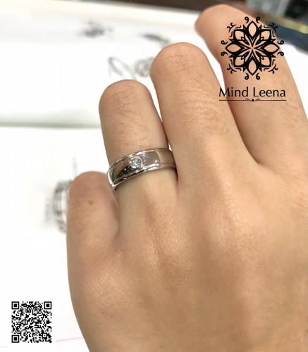 แหวนเพชรแท้เบลเยี่ยม น้ำหนักรวม 0.09 cts.