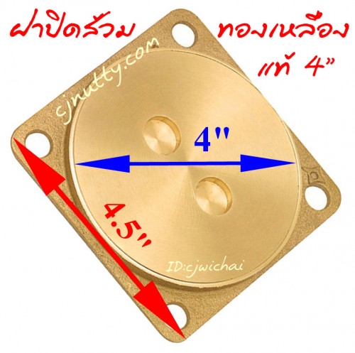 ฝาปิดส้วมทองเหลือง 4