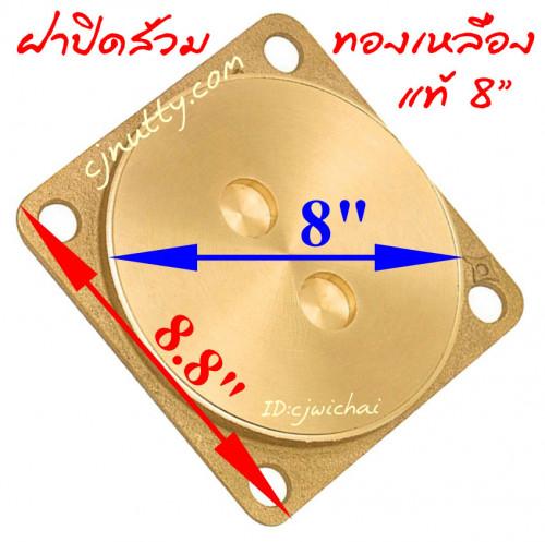 ฝาปิดส้วมทองเหลือง 8