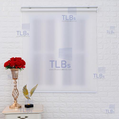 ม่านม้วน TLBs โปร่งแสง (โซ่ดึง) ผ้า CARNIVAL สีwhite