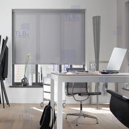ม่านม้วน TLBs โปร่งแสง (โซ่ดึง) ผ้า CARNIVAL สีเทา