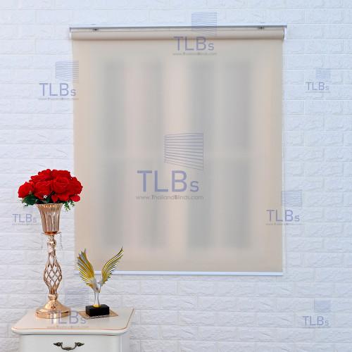 ม่านม้วน TLBs โปร่งแสง (โซ่ดึง) ผ้า CARNIVAL สีเบจ
