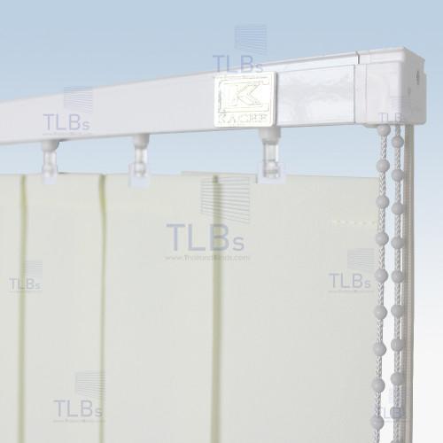 ม่านปรับแสง TLBs โปร่งแสง (เชือกปรับ) ขนาดใบ 8.9 ซม. ผ้า VX-003
