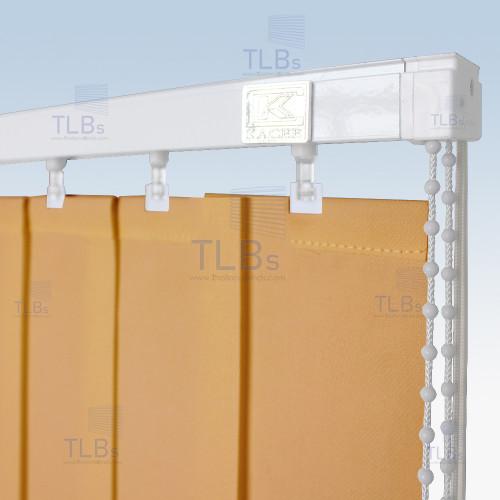ม่านปรับแสง TLBs โปร่งแสง (เชือกปรับ) ขนาดใบ 8.9 ซม. ผ้า VX-008