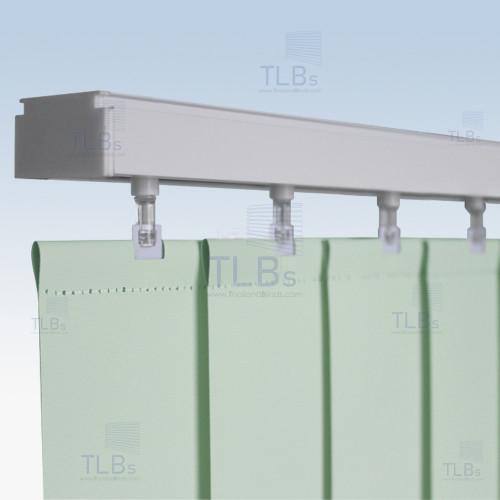 ม่านปรับแสง TLBs ทึบแสง (เชือกปรับ) ขนาดใบ 8.9 ซม. ผ้า F7404