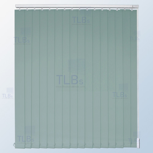 ม่านปรับแสง TLBs ทึบแสง (เชือกปรับ) ขนาดใบ 8.9 ซม. ผ้า F7405