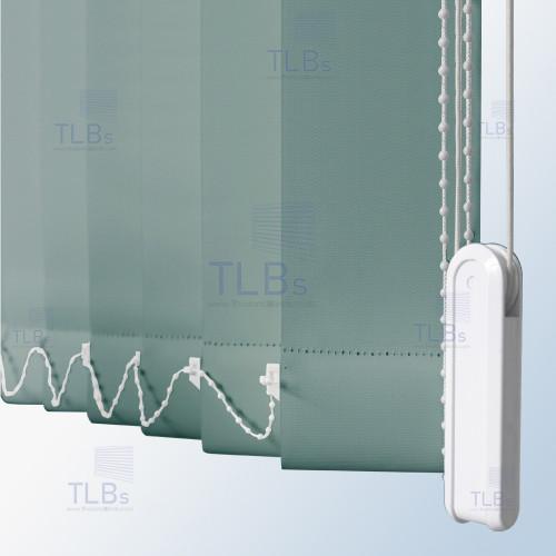 ม่านปรับแสง TLBs ทึบแสง (เชือกปรับ) ขนาดใบ 8.9 ซม. ผ้า F7405 2