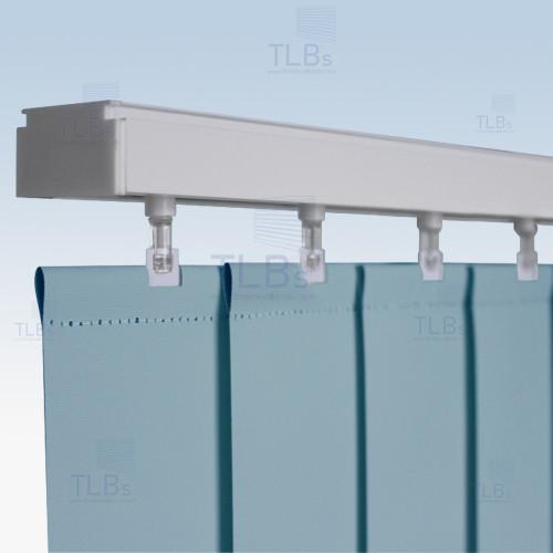 ม่านปรับแสง TLBs ทึบแสง (เชือกปรับ) ขนาดใบ 8.9 ซม. ผ้า F7406