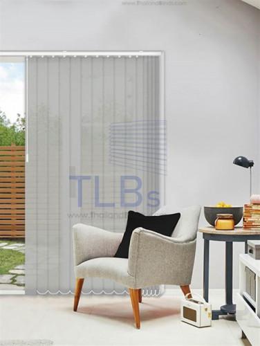 ม่านปรับแสง TLBs ทึบแสง (เชือกปรับ) ขนาดใบ 8.9 ซม (ไม่ลามไฟ). ผ้า ZM2071-3