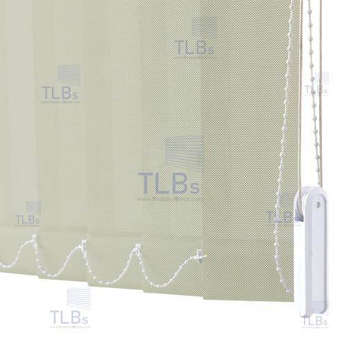 ม่านปรับแสง TLBs ทึบแสง (เชือกปรับ) ขนาดใบ 8.9 ซม (ไม่ลามไฟ). ผ้า ZM2071-8