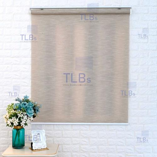 ม่านม้วน TLBs โปร่งแสง (โซ่ดึง) ผ้า RAINSVILLE  สีbrown