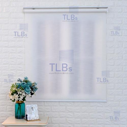 ม่านม้วน TLBs โปร่งแสง (โซ่ดึง) ผ้า RAINSVILLE  สีwhite