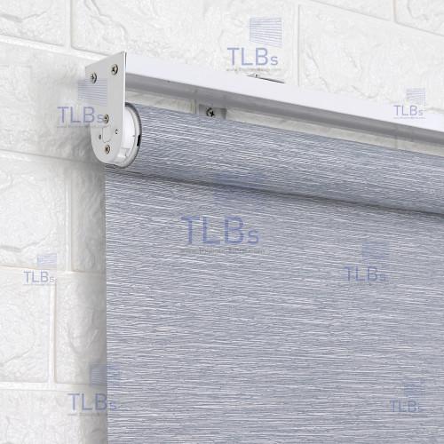 ม่านม้วน TLBs โปร่งแสง (โซ่ดึง) ผ้า RAINSVILLE  สีเทา