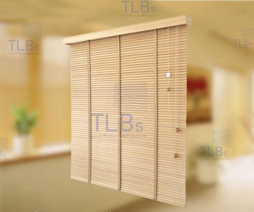 มู่ลี่ไม้ TLBs  ใบกว้าง  5.0 ซม.