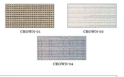 ม่านม้วน TLBs โปร่งแสงเคลือบพีวีซี (โซ่ดึง) ผ้า Crown 2
