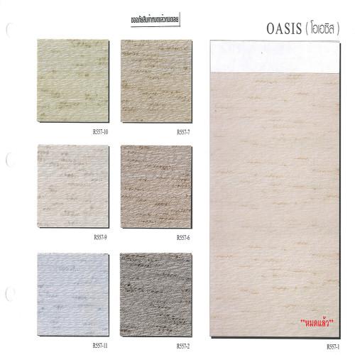 ม่านม้วน TLBs โปร่งแสง  (โซ่ดึง) ผ้า OASIS