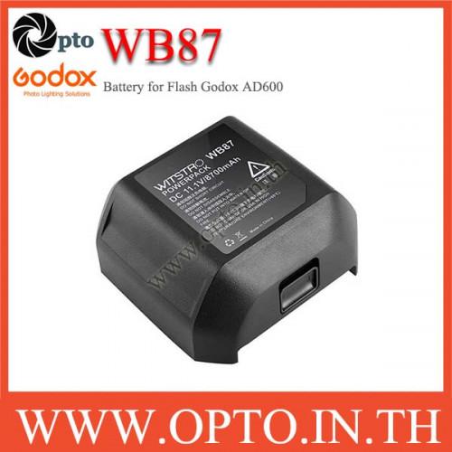 WB87 Battery for Godox AD600 AD600B AD600BM AD600M 8700mAh แบตเตอรี่โกดอก