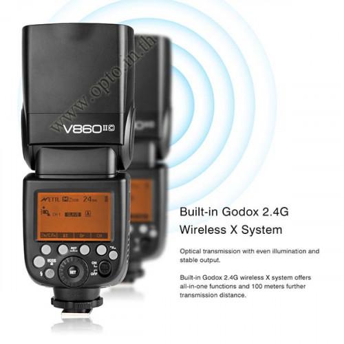 V860II Canon Auto E-TTL II Speedlight Li-ion Battery Buit in Wireless LCD Panel แฟลชออโต้Godox V860 1