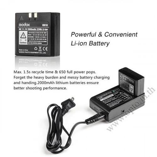 V860II Canon Auto E-TTL II Speedlight Li-ion Battery Buit in Wireless LCD Panel แฟลชออโต้Godox V860 3