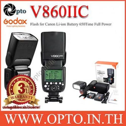 V860II Canon Auto E-TTL II Speedlight Li-ion Battery Buit in Wireless LCD Panel แฟลชออโต้Godox V860