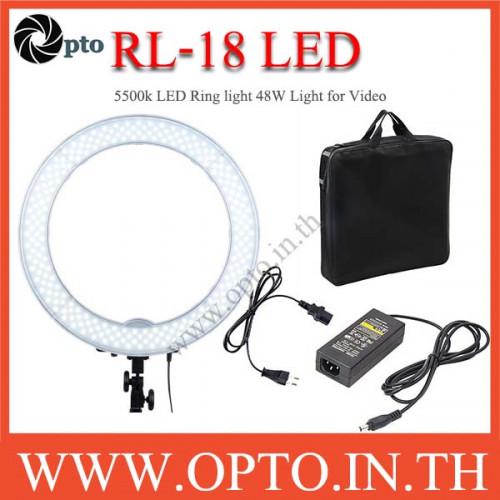 RL-18 5500k LED Ring light 48W Light for Video ไฟต่อเนื่อง ถ่ายรูป ถ่ายวีดีโอ ไฟแต่งหน้า