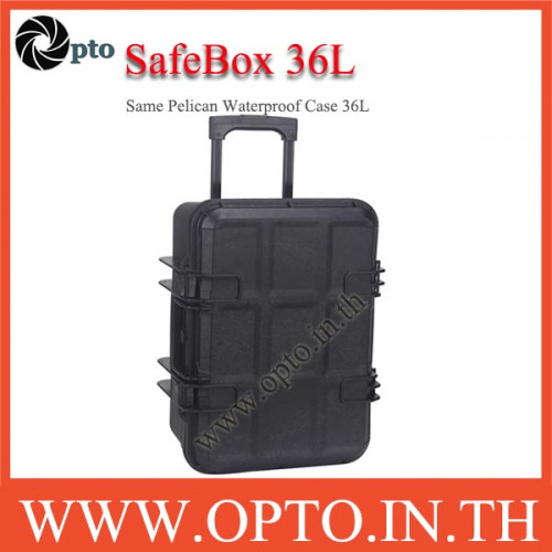 SafeBox Eco36L สีดำ same Pelican Waterproof Case กระเป๋ากล้องกันกระแทกกันน้ำกันความชื้น มีล้อลาก