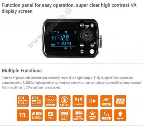 AD200Pro Godox HSS Sync Wireless Pocket Double Head Flash Portable TTL AD200 3