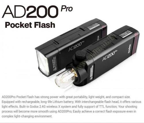 AD200Pro Godox HSS Sync Wireless Pocket Double Head Flash Portable TTL AD200 2