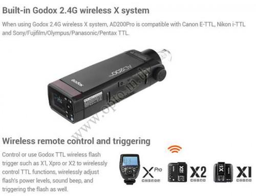 AD200Pro Godox HSS Sync Wireless Pocket Double Head Flash Portable TTL AD200 1