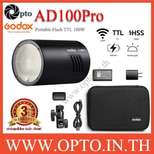 AD100Pro Godox Flash Portable TTL HSS แฟลชพกพาAD100 Pro