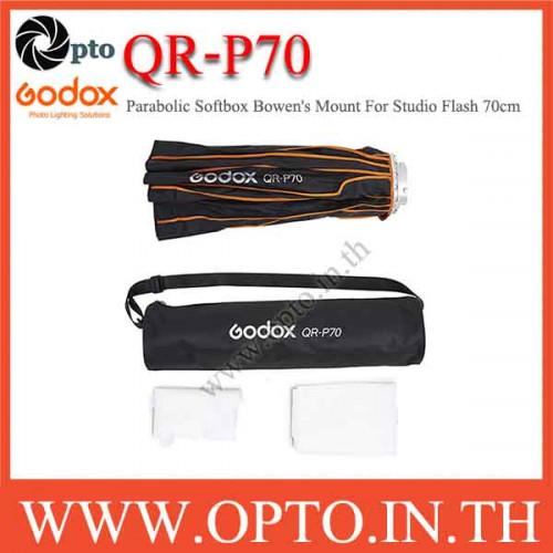 QR-P70 Godox Parabolic Softbox Bowen\'s Mount For Studio Flash, 70CM พาราโบลิกซอฟท์บ๊อกซ์ ไฟสตูดิโอ