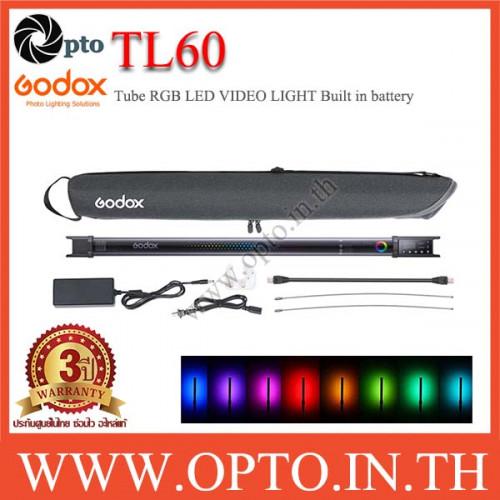 TL60 Godox Tube RGB LED VIDEO LIGHT Built in battery  ไฟต่อเนื่องแบบพกพา ถ่ายรูป ถ่ายวีดีโอ