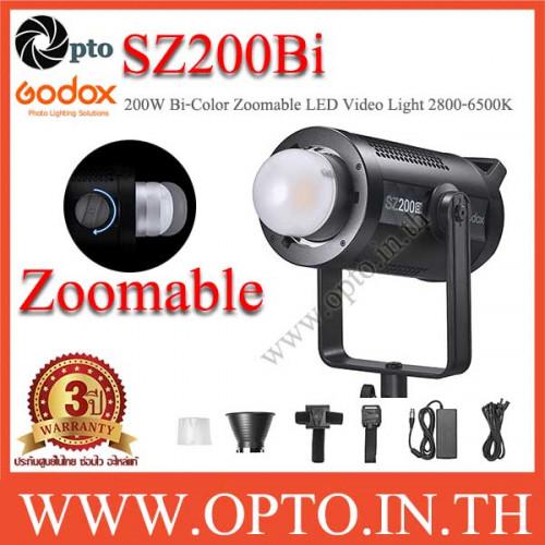 SZ200Bi Godox 200W Bi-Color Zoomable LED Video Light CRI97 2800K~6500K ไฟต่อเนื่องหัวซูมได้แสง2สี