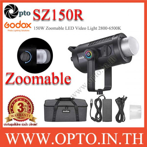 SZ150R Godox 150W RGB Zoomable LED Video Light CRI97 2800K~6500K ไฟต่อเนื่องหัวซูมได้แสงRGB