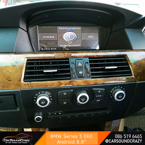 BMW E60 Series 5 จอ 8.8 นิ้ว Android Multimedia Player GPS ตรงรุ่น