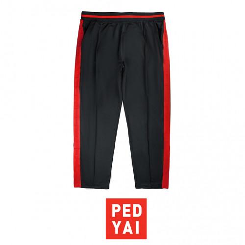 กางเกงวอมขายาว ดำแถบแดง
