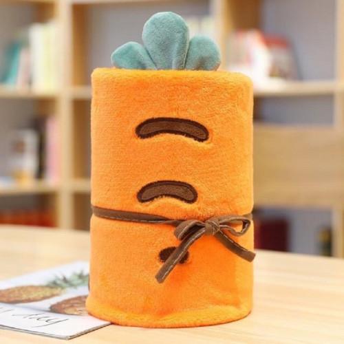 ตุ๊กตาผ้าห่มม้วนได้ ลายแครอท